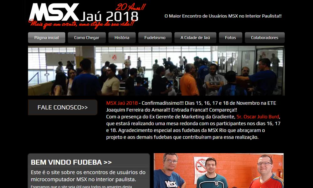 Revista Clube MSX no encontro MSX Jaú 2018 | Revista Clube MSX