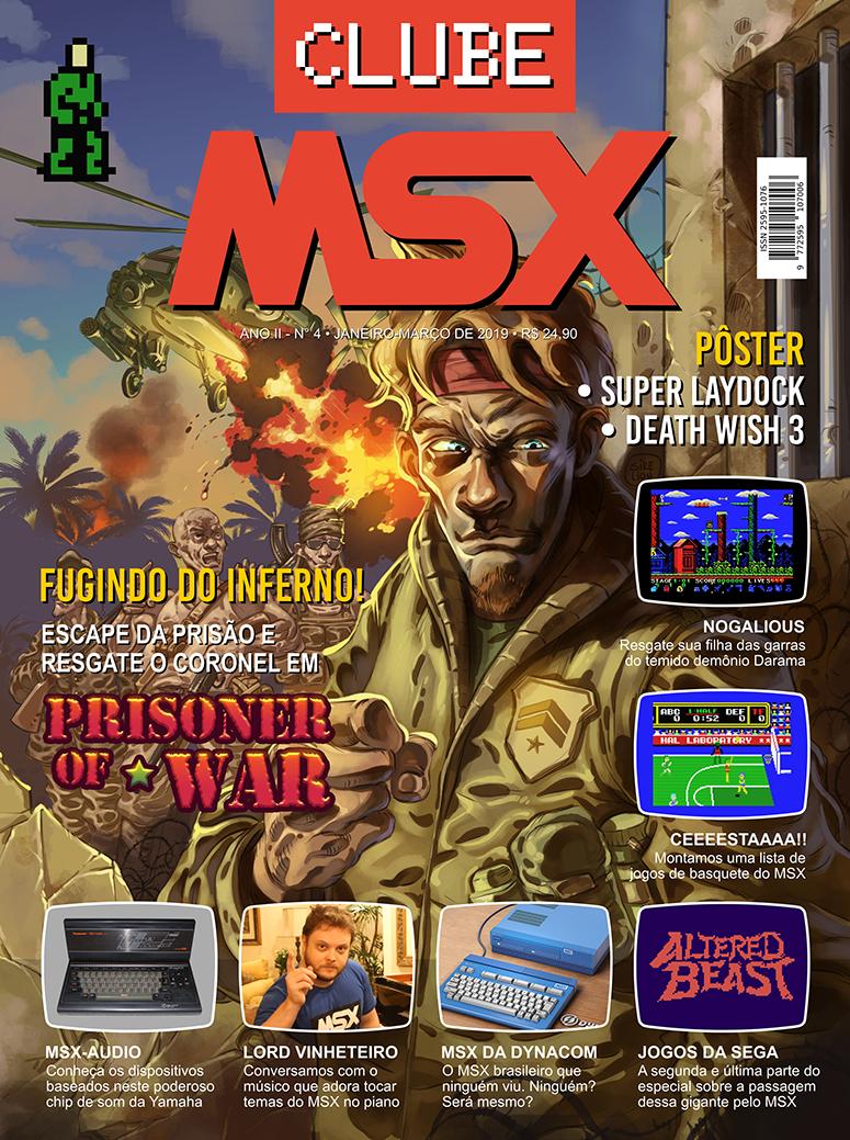 Capa da edição nº 4 da revista Clube MSX