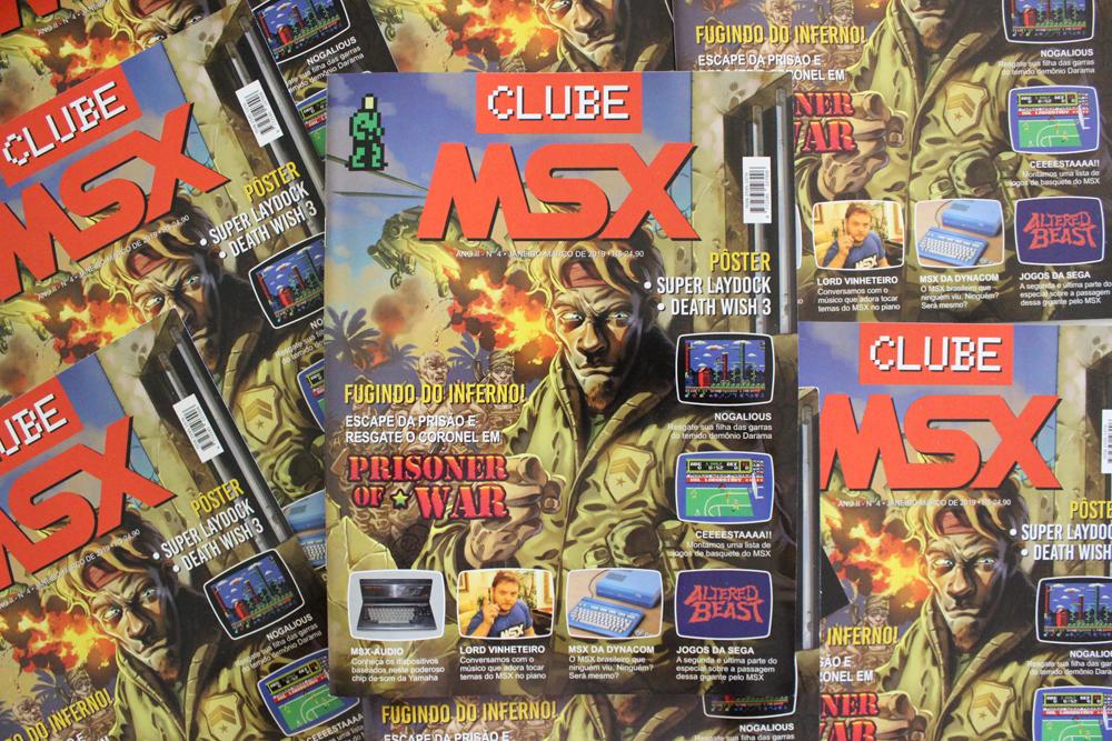 Começaram os envios da Clube MSX #4 | Revista Clube MSX