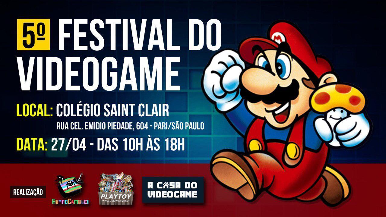 A Clube MSX estará no 5º Festival do Videogame | Revista Clube MSX