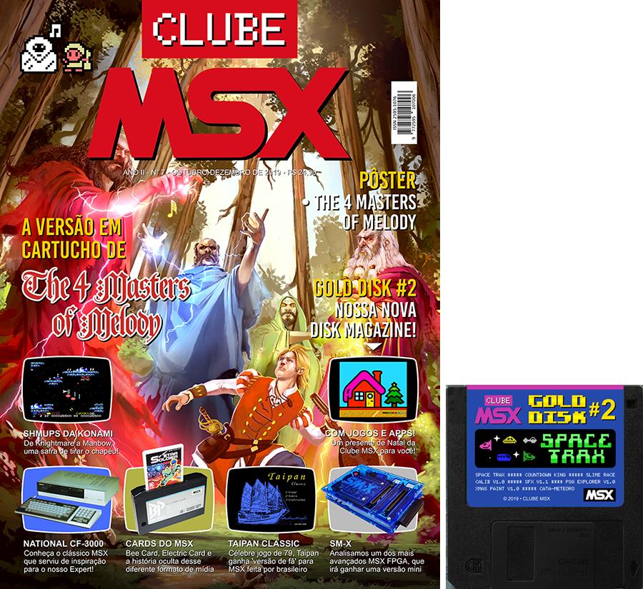 Capa da revista Clube MSX #7 + Gold Disk #2 - Revista Clube MSX