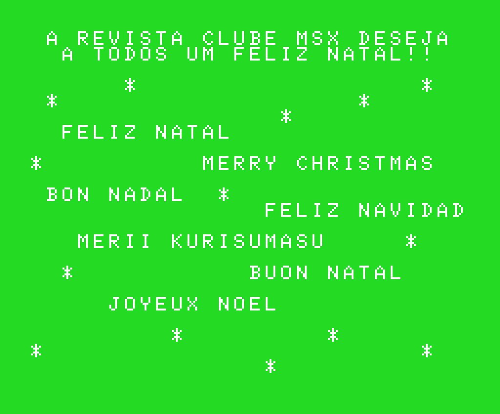 Feliz Natal e um próspero Ano Novo! | REVISTA CLUBE MSX