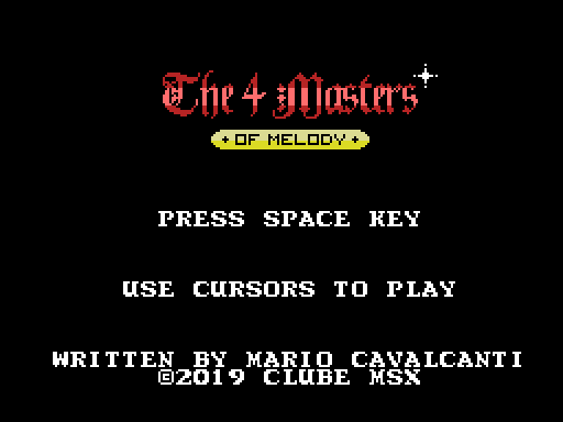 The 4 Masters of Melody em cartucho | REVISTA CLUBE MSX