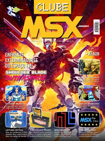 Capa da revista Clube MSX #8 - Revista Clube MSX