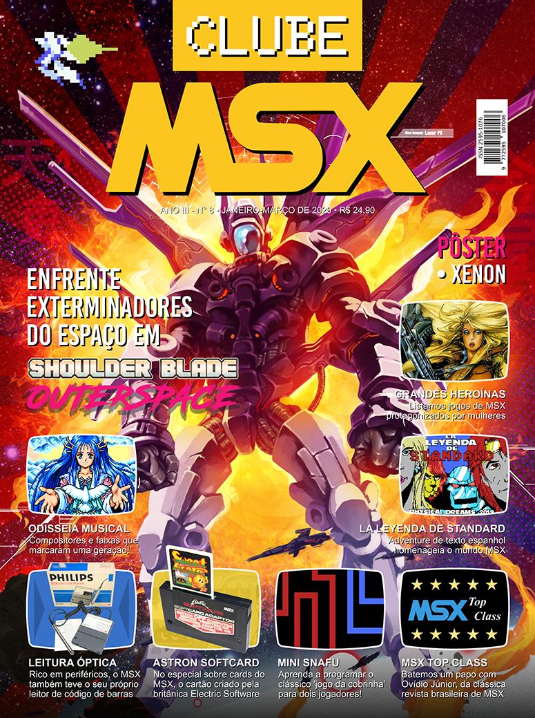 Capa da edição nº 8 da revista Clube MSX