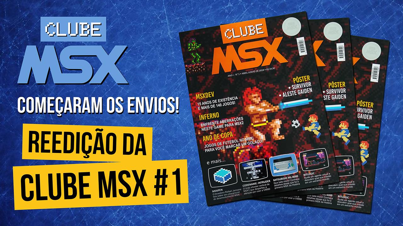 Começaram os envios da reedição da Clube MSX #1 | REVISTA CLUBE MSX