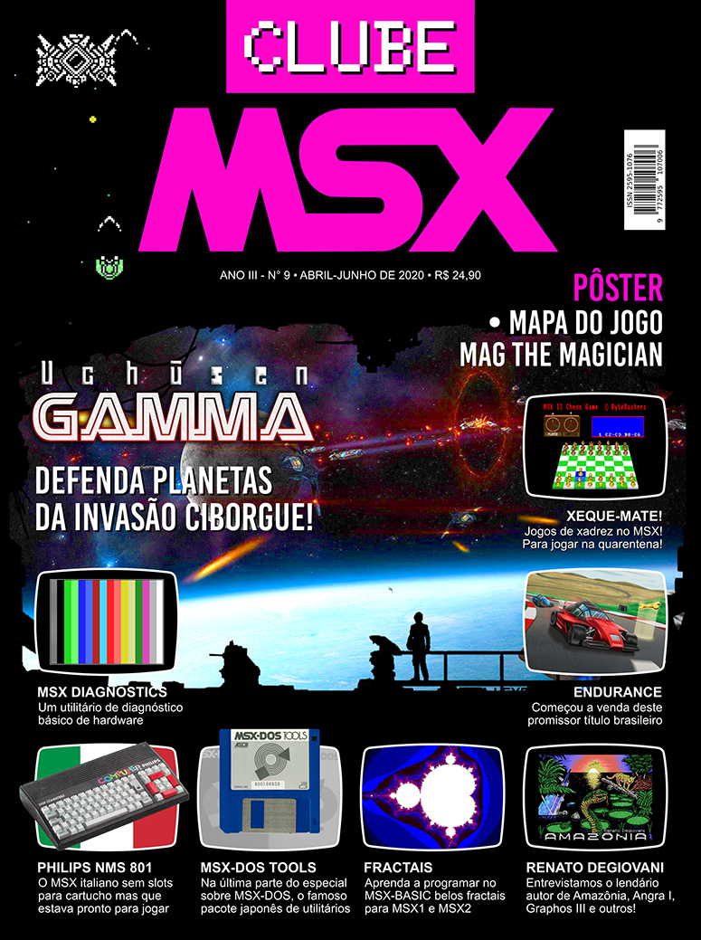 Capa da edição nº 9 da revista Clube MSX