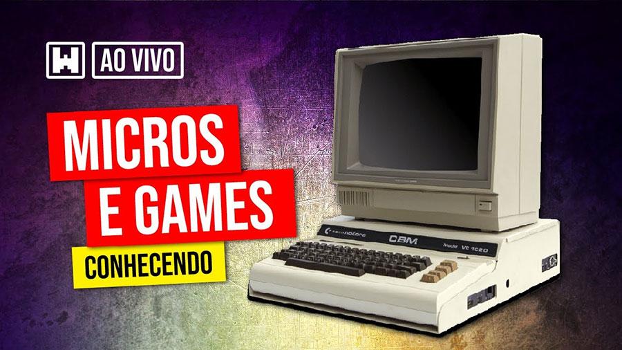 WarpZone fará live sobre games e microcomputadores antigos