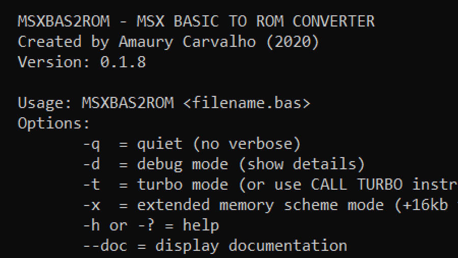 MSXBas2ROM