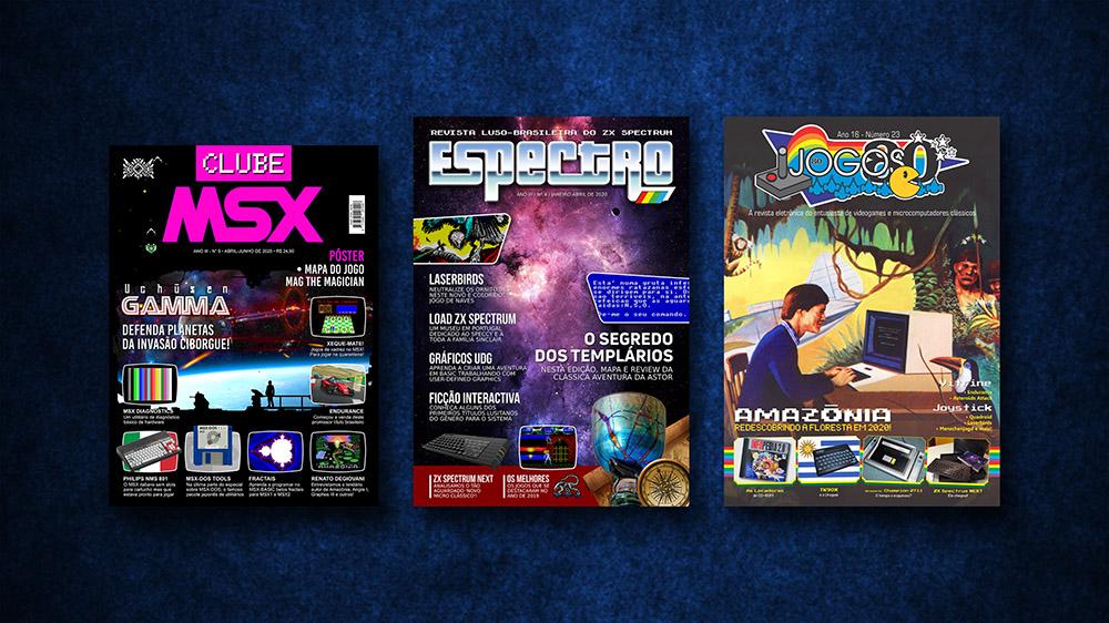 Espectro e Jogos 80 na loja virtual da Clube MSX | REVISTA CLUBE MSX