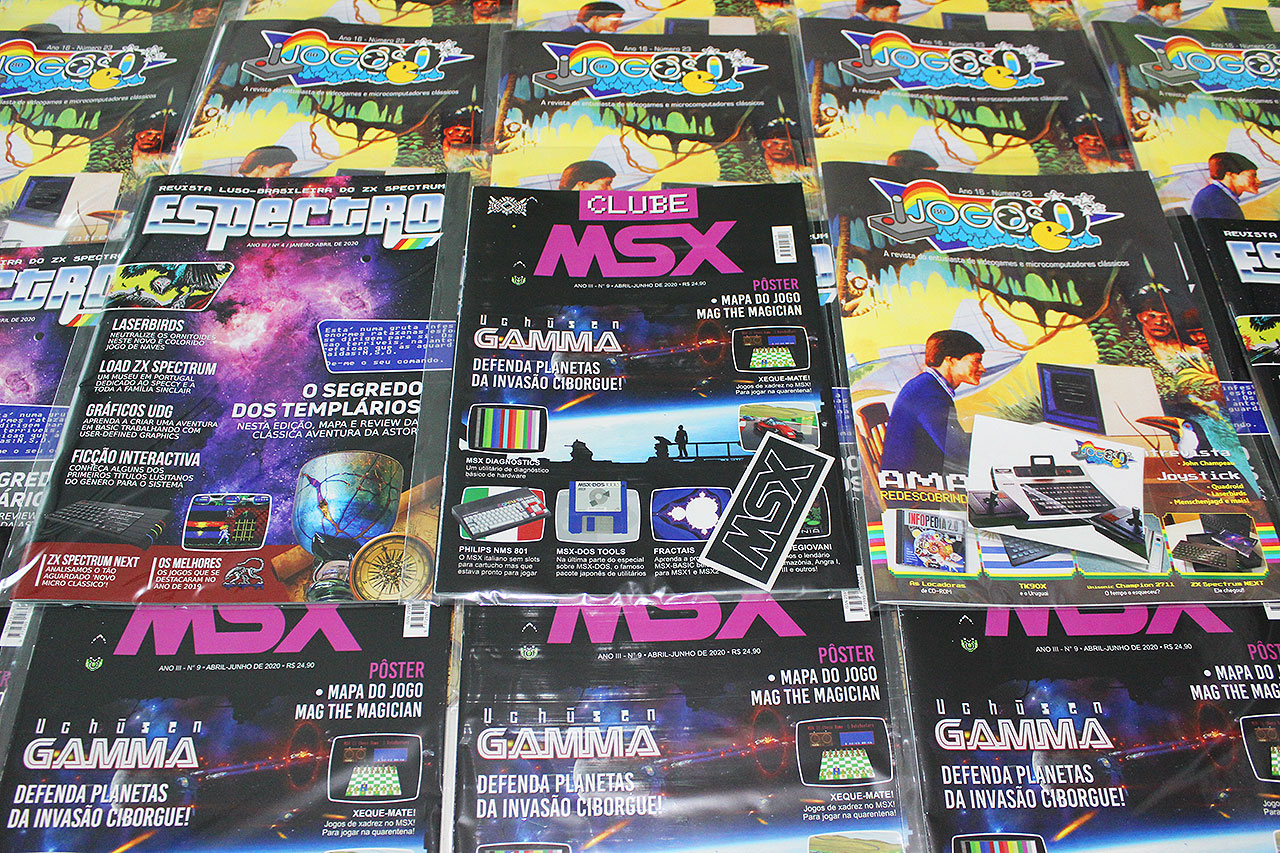 Começaram os envios da Clube MSX #9, Espectro #4 e Jogos 80 nº 23 | Revista Clube MSX