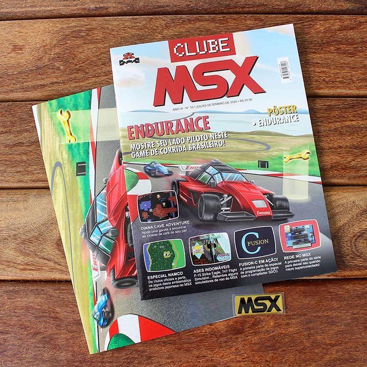 Começaram os envios da revista Clube MSX #10