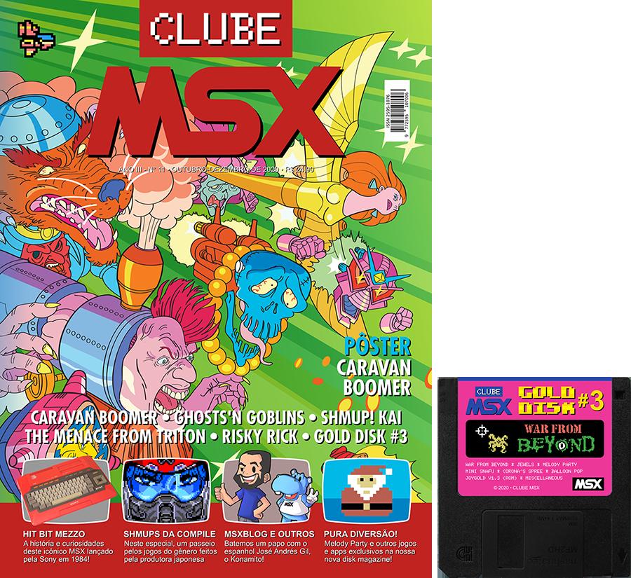 Clube MSX #11 e Gold Disk #3 | Revista Clube MSX