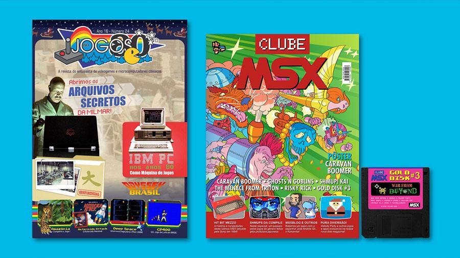 Clube MSX #11, Jogos 80 nº 24 e Gold Disk #3 | Revista Clube MSX
