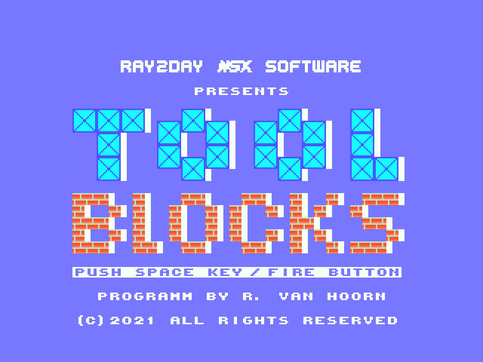 Tool Blocks: primeiro jogo inscrito na MSXdev'21 | Revista Clube MSX