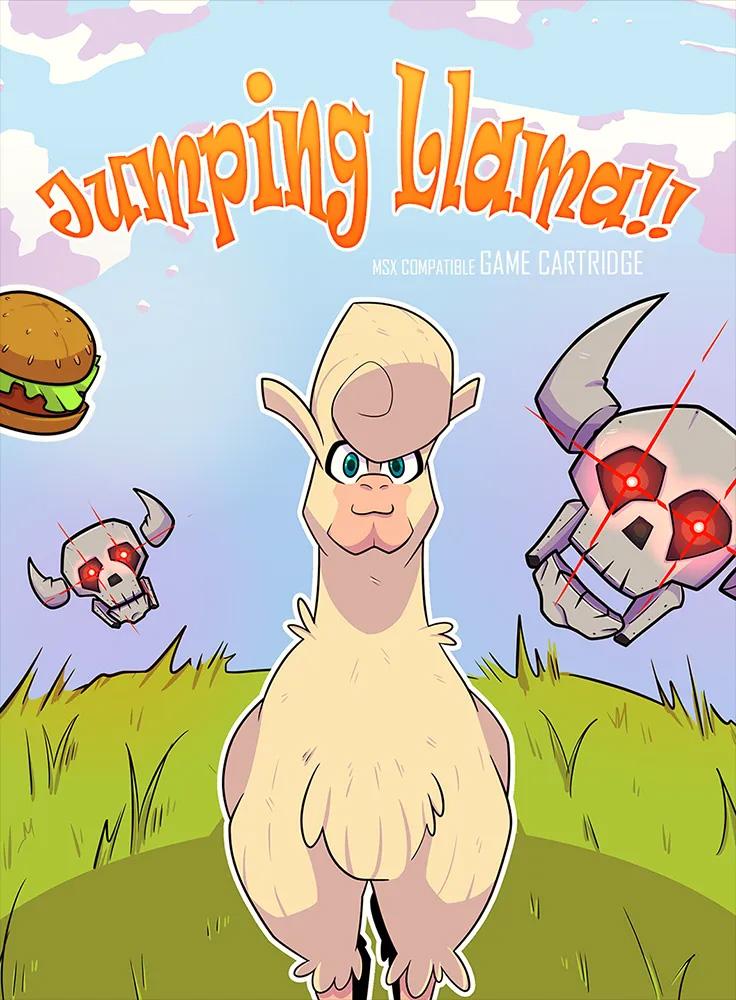 Jumping Llama: começa a pré-venda de novo jogo da Oniric Factor | Revista Clube MSX