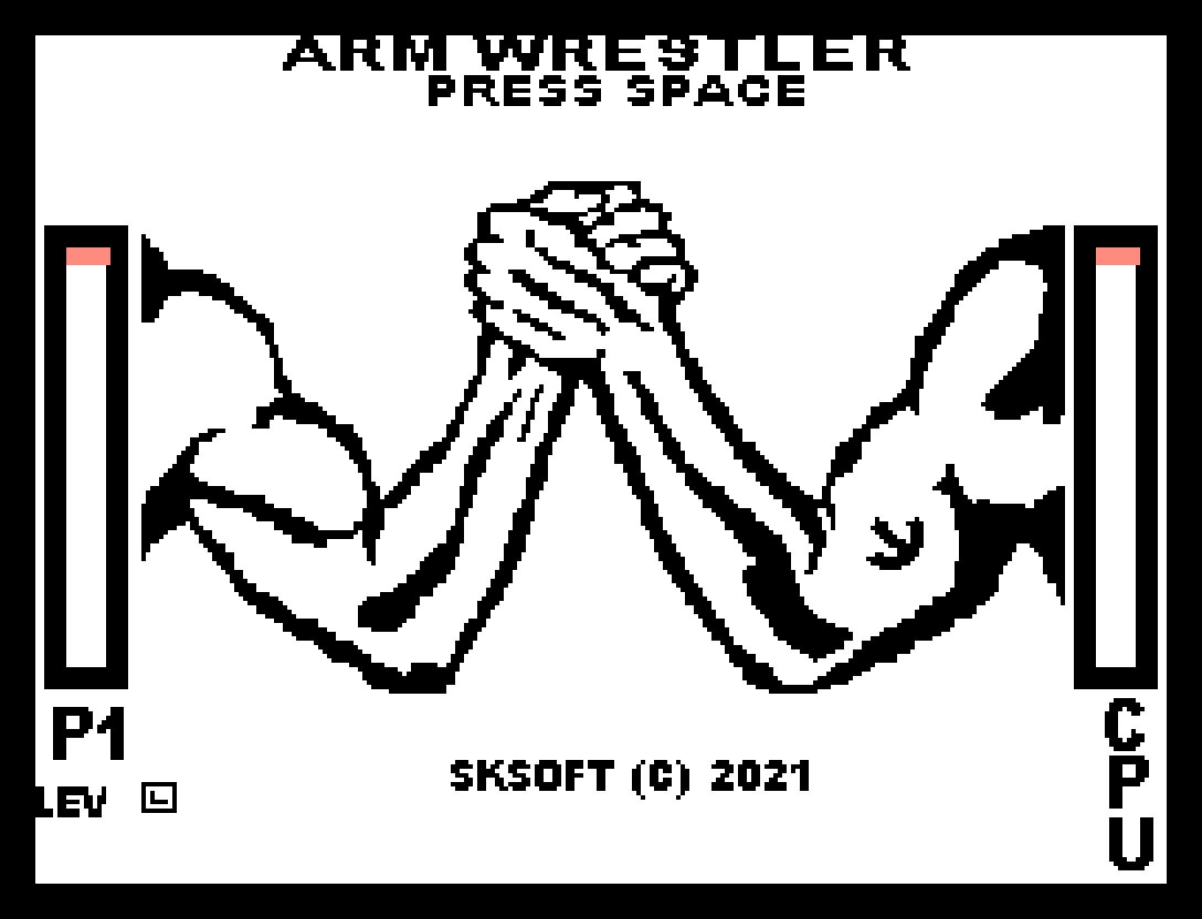 Arm Wrestler: décimo segundo jogo inscrito da MSXdev'21 | Revista Clube MSX