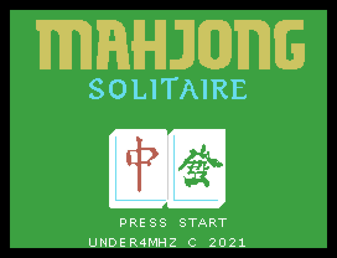 Mahjong Solitaire: décimo sétimo jogo inscrito na MSXdev'21 | Revista Clube MSX