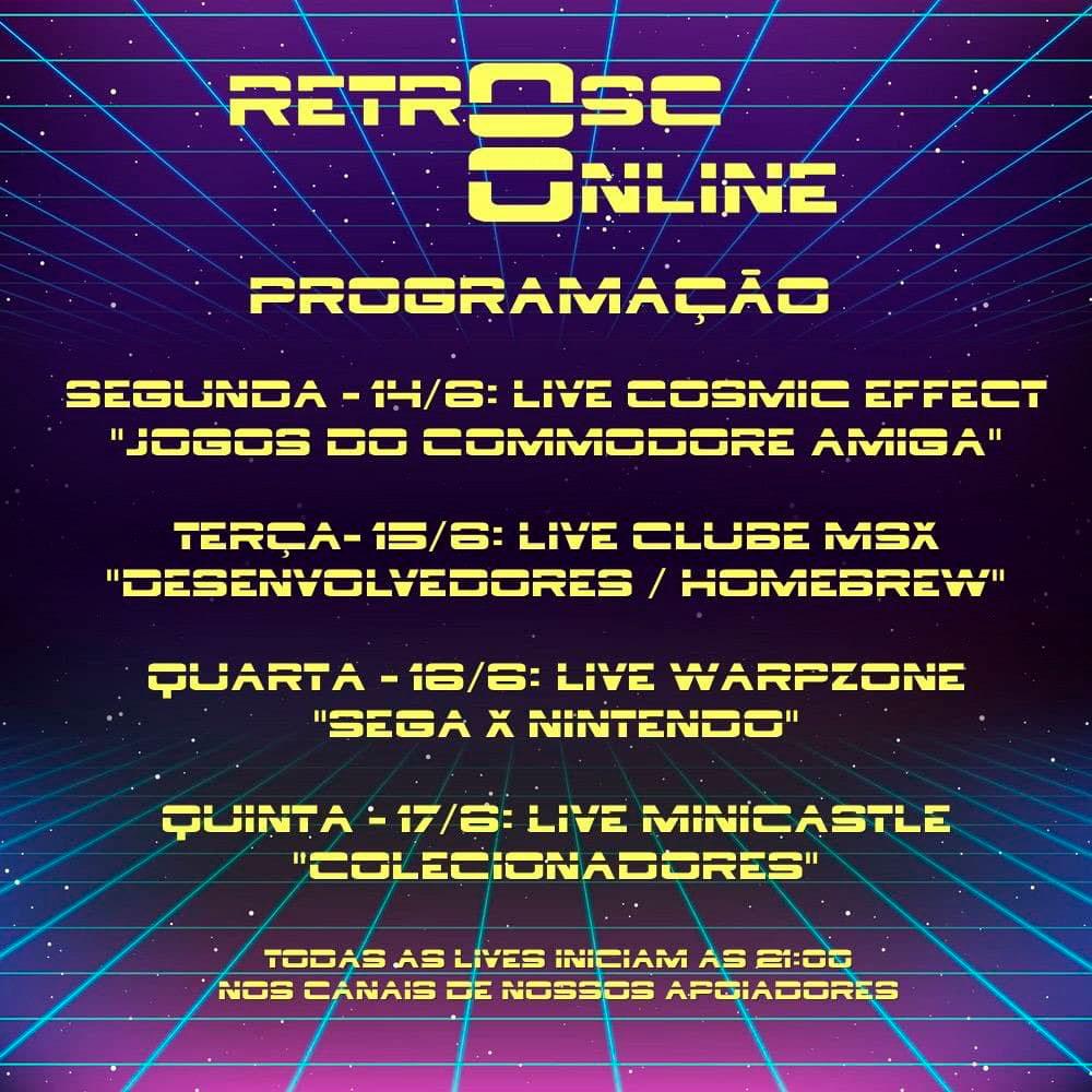RetroSC8 Online: veja a programação do ciclo de lives | Revista Clube MSX