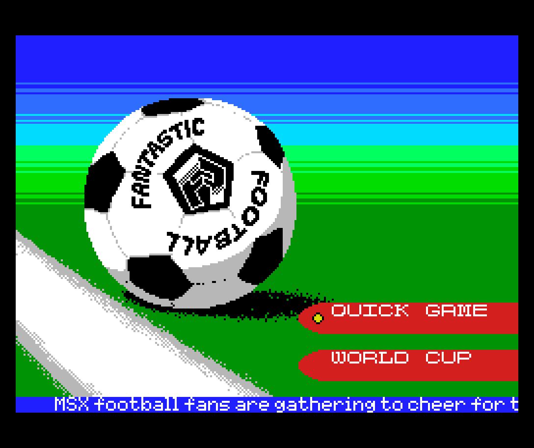 Fantastic Football: vigésimo quinto jogo inscrito na MSXdev21 | Revista Clube MSX